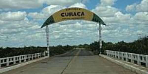 P�rtico de entrada de Cura�a-BA-Foto:MOISES AMARO