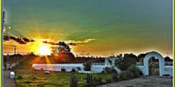 Pôr do Sol na Praça do Cemitério-Foto:Agamenon Pedrosa