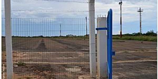 Fronteiras-PI-Pista de decolagem do Aeroclube-Foto:Herlanio Evangelista
