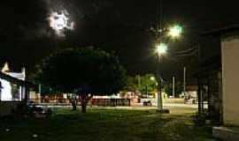 Ilha Grande - Praça de Ilha Grande vista noturna-Foto:Julio Cesar C. Costa
