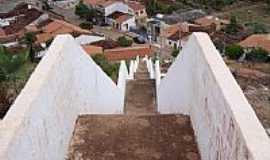 Itainópolis - Escadaria do Morroe vista parcial da cidade de Itainópolis-Foto:Marcel Julian