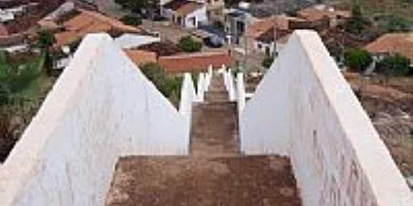 Escadaria do Morroe vista parcial da cidade de Itainópolis-Foto:Marcel Julian