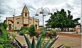 Itaueira - Praça e Igreja-Foto:Agamenon Pedrosa