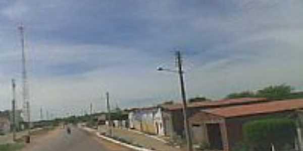 Avenida central de Jacobina do Piauí-Foto:conhecendopiaui.