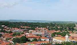 José de Freitas - José de Freitas-PI-Vista da cidade com o Açude Bezerra ao fundo-Foto:Alexandro Dias