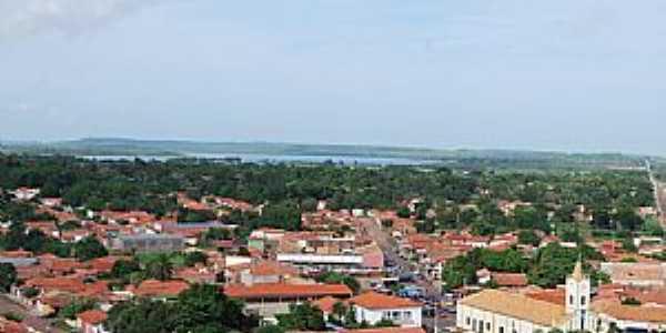 José de Freitas-PI-Vista da cidade com o Açude Bezerra ao fundo-Foto:Alexandro Dias