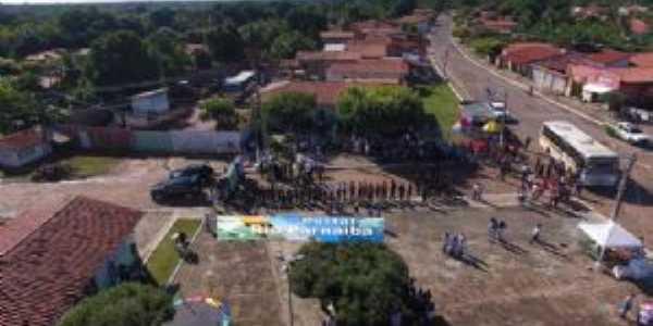 Foto aérea  da praça das mangueiras, Por Karoline Reis dos Santos
