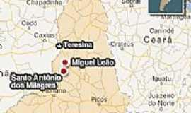 Miguel Leão - Miguel Leão-PI-Mapa de Localização