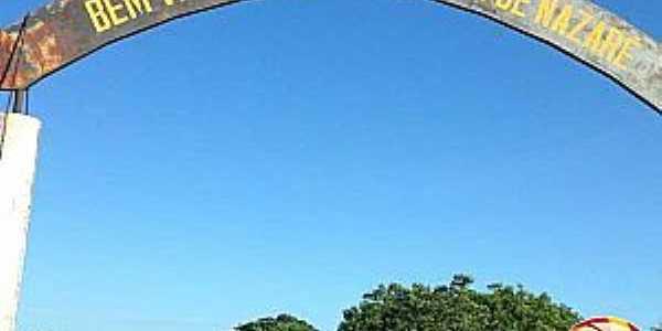 Nossa Senhora de Nazaré-PI-Pórtico de entrada-Foto:portaldecampomaior.com.br