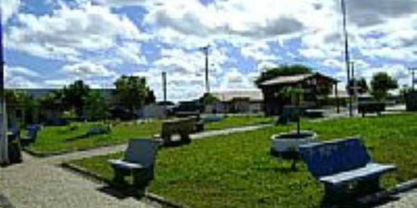 Praça Sátiro Cardoso em Novo Santo Antônio-PI-Foto:zé