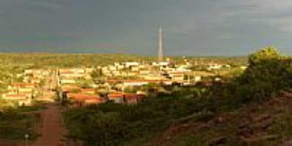 Vista parcial da cidade de Novo Santo Antônio-PI-Foto:zé
