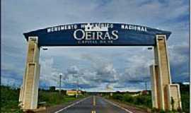 Oeiras - Pórtico de entrada-Foto:Agamenon Pedrosa