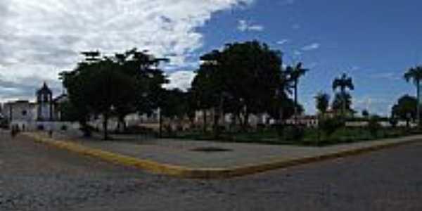 Pra�a central de Oieiras-PI-Foto:Edilson Morais Brito�