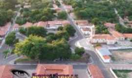 Palmeirais - vista aerea do centro de palmeirais, Por robert