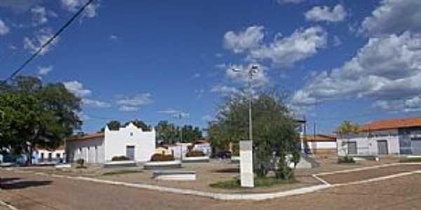 Passagem Franca do Piauí-PI-Praça e Igreja-Foto:passagemfranca.pi.gov.br
