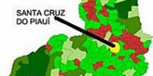 Mapa de Localização - Santa Cruz do Piauí-PI
