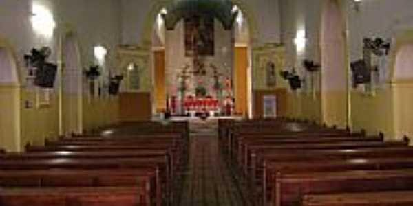 Interior da Igreja Matriz de São João Batista em São João do Piauí-PI-Foto:Cabral Lopes