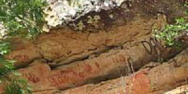 Inscrições rupestre-Foto:pedro.deolino