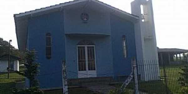 Água Azul-PR-Capela do Divino Espírito Santo-Foto-www.facebook.-postada por:Sol Pogrzeba