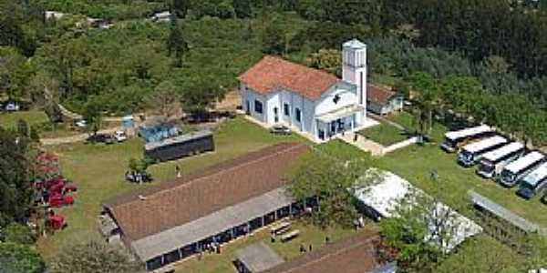 Água Azul-PR-Vista aérea da Igreja N.Sra.Aparecida-Foto:www.facebook.