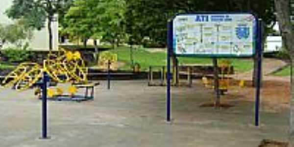 Academia da Melhor Idade na Praça Gov.Ney Braga em Alto Piquiri-Foto:fabio.faustino