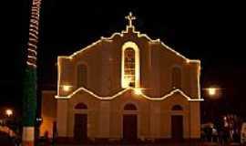 Euclides da Cunha - Vista noturna da Igreja Matriz de Euclides da Cunha-BA-Foto:Eduardo Finavaro