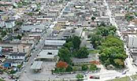 Eunápolis - Vista aérea parcial do centro comercial de Eunápolis