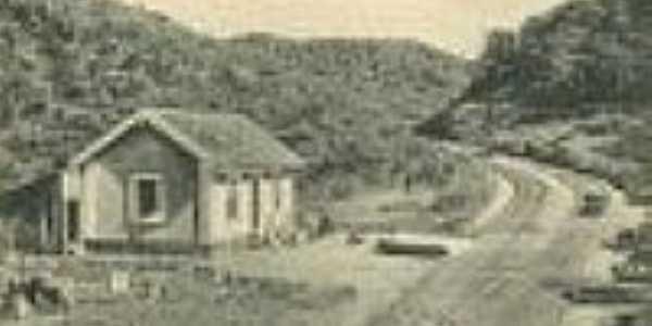 A estação original, em  1909-Foto: Wanderley Duck