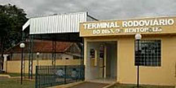 Terminal Rodoviário no Município de Bentópolis-Foto:Juliane Amadeu