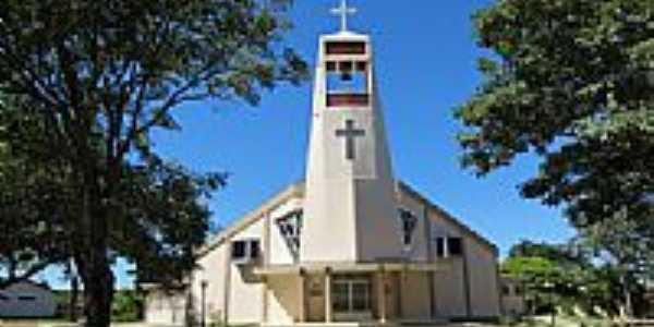 Igreja da Paróquia Sagrado Coração de Jesus em Brasilândia do Sul-Foto:Ricardo Mercadante