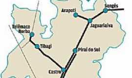 Carambeí - Mapa de localização
