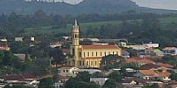 Congonhinhas-PR-Vista da Matriz de N.Sra.Aparecida e parcial da cidade-Foto:Donisetetiti