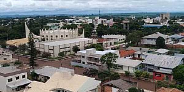 Corbélia-PR-Vista aérea do centro da cidade-Foto:Portal Corbélia-Facebook