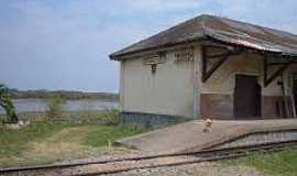 Estação General Lúcio - Estação General Lúcio-PR-E Estação e o Rio Iguaçu ao fundo-Foto:thiagosyen.blogspot.com