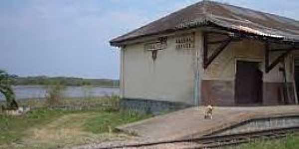 Estação General Lúcio-PR-E Estação e o Rio Iguaçu ao fundo-Foto:thiagosyen.blogspot.com