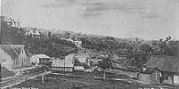 Vila e estação na época da Inauguração-Foto:Thomas Correa).