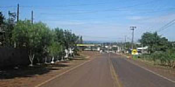 Entrada da cidade de Foz do Jord�o-Foto:Loivinho A.M.Fran�a