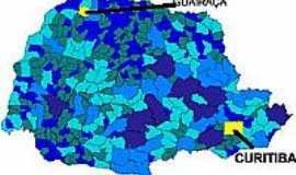 Guairaçá - Mapa de Localização - Guairaçá-PR