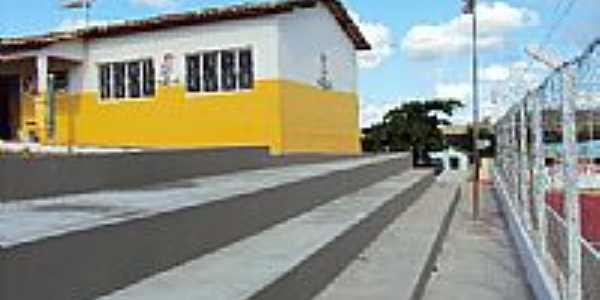 Vista parcial do Colégio e Quadra em Gurupá Mirim-Foto:potidal
