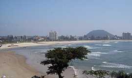 Guaratuba - Guaratuba-PR-Vista da praia e a cidade-Foto:Adilson Gomes