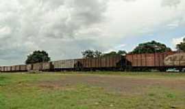 Guaraúna - Composição férrea na estação de Guaraúna-Foto:Ricardo Mercadante