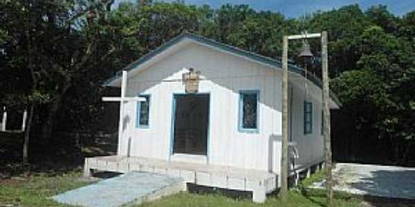 Ilha do Mel-PR-Igreja de N.Sra.dos Navegantes-Foto:Douglas D, mar