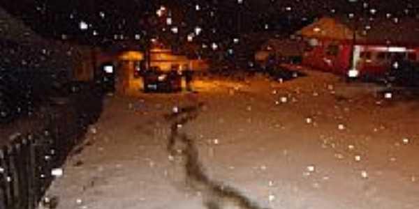 Neve na madrugada de 22/07/2013 em Inácio Martins-PR-Foto:Osvaldir Pereira