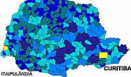 Itaipulândia - Mapa