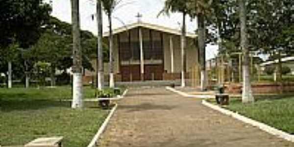Jaguapitã-PR-Praça e Matriz de São José-Foto:JBSantos