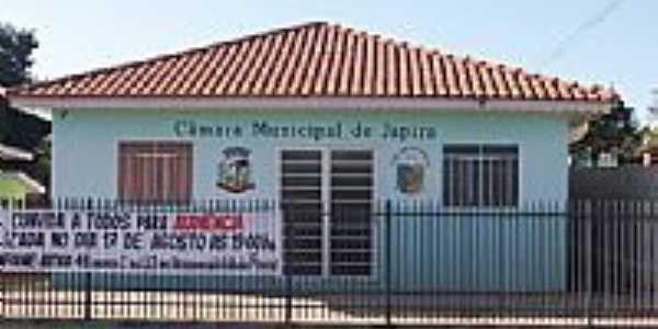Câmara Municipal de Japira-Foto:Aparecido Ferraz