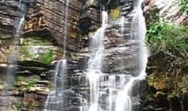 Ibicoara - Cachoeira da Trilha do Burac�o em Ibicoara-BA-Foto:GreenDK