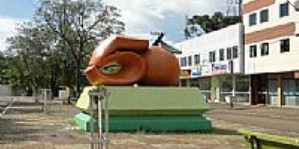 Monumento aos 50 anos de Laranjeiras do Sul-PR-Foto:Ricardo Mercadante
