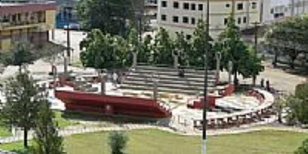 Vista do Anfiteatro Aberto na Praça Gov.Garcez em Laranjeiras do Sul-PR-Foto:Ricardo Mercadante