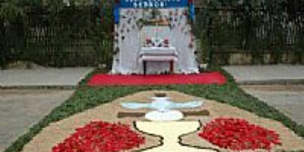 Altar da festa de Corpus Christi em Mallet-Foto:Claudio J. Melnik